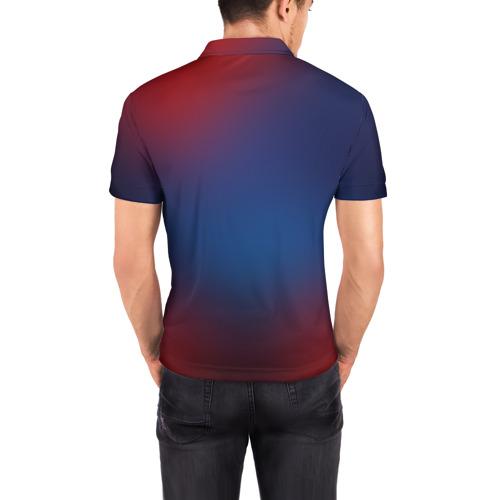 Мужская рубашка поло 3D  Фото 04, Red Moons