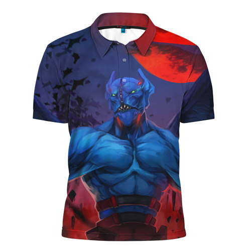 Мужская рубашка поло 3D  Фото 01, Red Moons