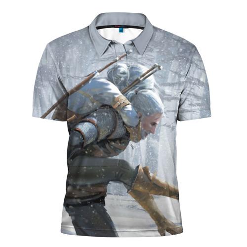 Мужская рубашка поло 3D  Фото 01, Цири и Геральд