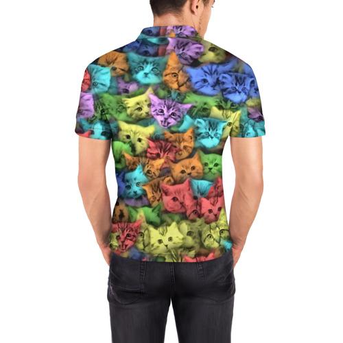 Мужская рубашка поло 3D  Фото 04, Разноцветные коты