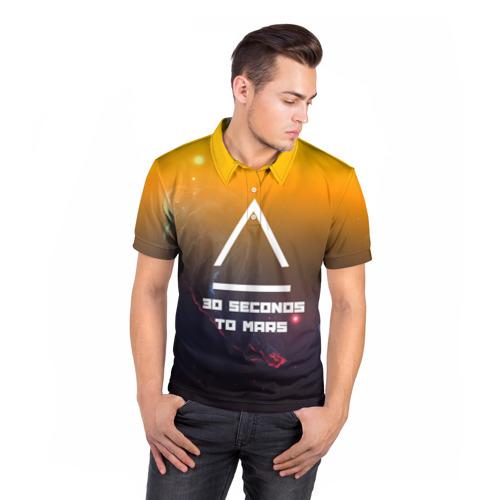 Мужская рубашка поло 3D  Фото 05, 30 SECONDS TO MARS SPACE STYLE