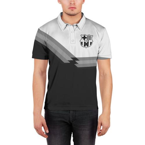 Мужская рубашка поло 3D  Фото 03, FC Barcelona