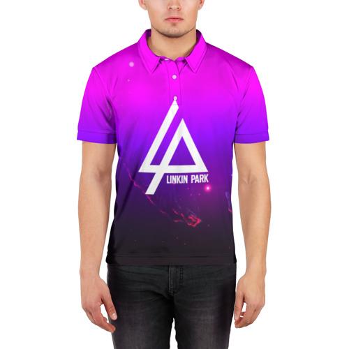 Мужская рубашка поло 3D  Фото 03, LINKIN PARK PARK SPACE STYLE