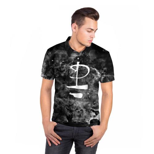 Мужская рубашка поло 3D  Фото 05, PINK FLOYD MUSIC SPACE LOGO