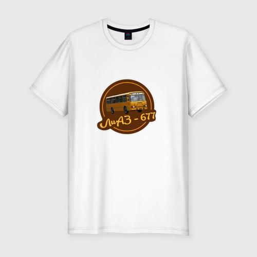Мужская футболка премиум Лиаз ретро автобус