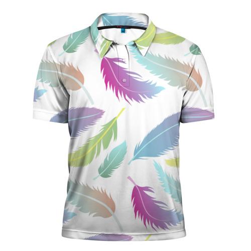 Мужская рубашка поло 3D  Фото 01, Перья