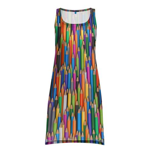 Платье-майка 3D Разноцветные карандаши