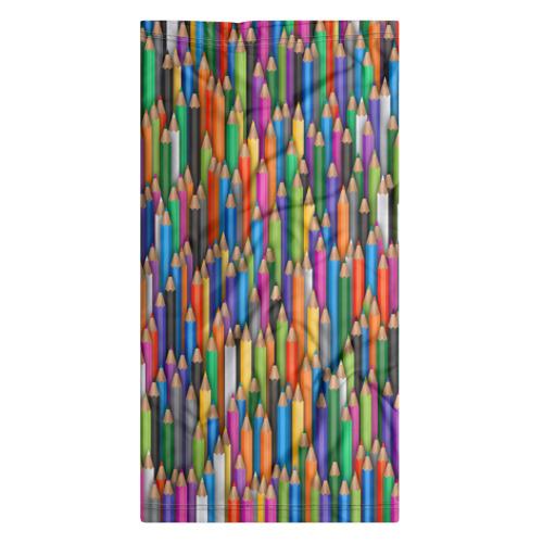 Бандана-труба 3D  Фото 07, Разноцветные карандаши