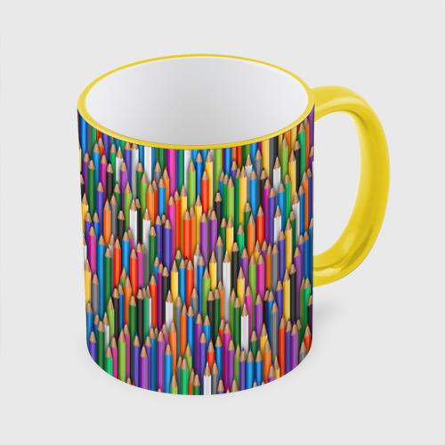 Кружка с полной запечаткой Разноцветные карандаши