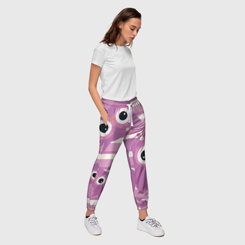 Женские брюки 3D Чудный филин Фото 01