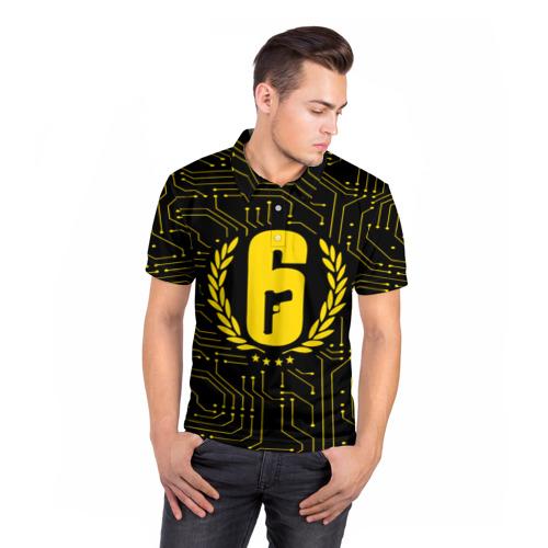 Мужская рубашка поло 3D  Фото 05, RAINBOW SIX SIEGE