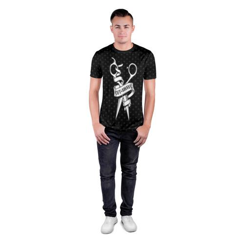 Мужская футболка 3D спортивная Барбер стрижки и бритье Фото 01