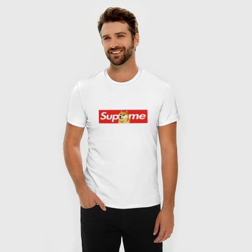 Мужская футболка премиум  Фото 03, Supreme Doge Logo