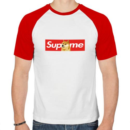 Мужская футболка реглан  Фото 01, Supreme Doge Logo