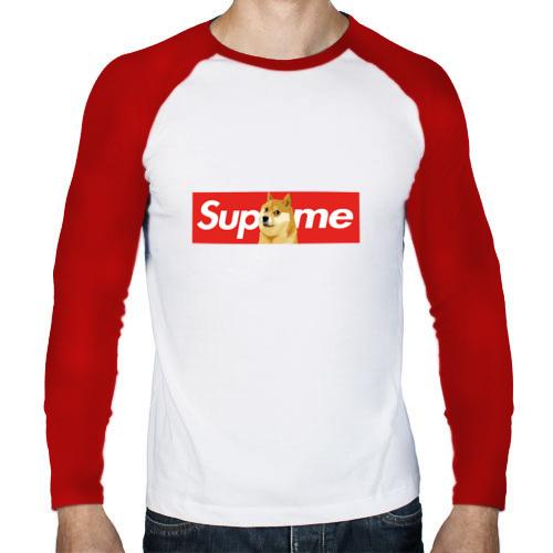 Мужской лонгслив реглан  Фото 01, Supreme Doge Logo