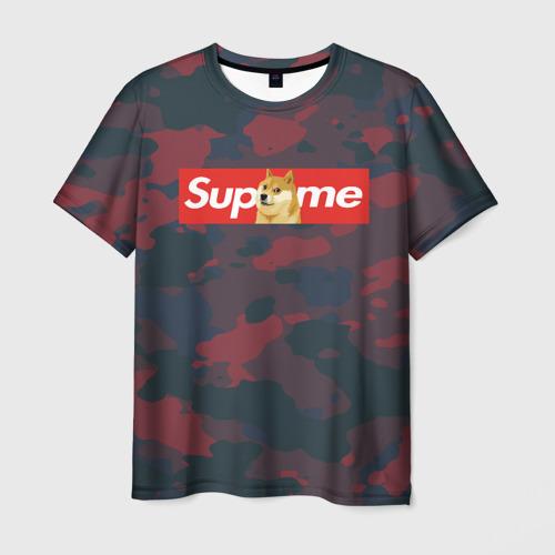Мужская футболка 3D Supreme Doge camouflage