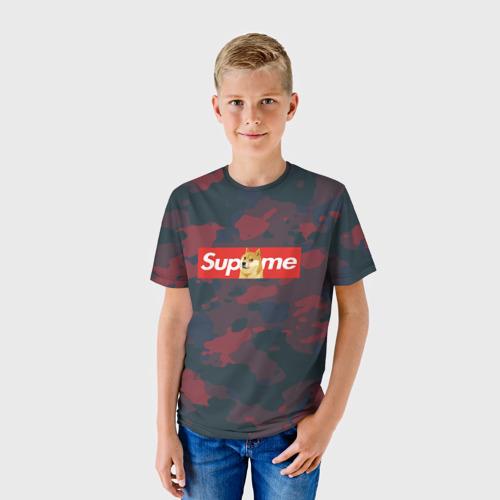 Детская футболка 3D Supreme Doge camouflage