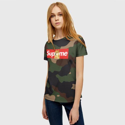 Женская футболка 3D Supreme Doge camouflage Фото 01