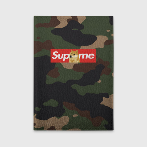 Обложка для автодокументов Supreme Doge camouflage Фото 01