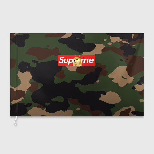 Флаг 3D Supreme Doge camouflage Фото 01