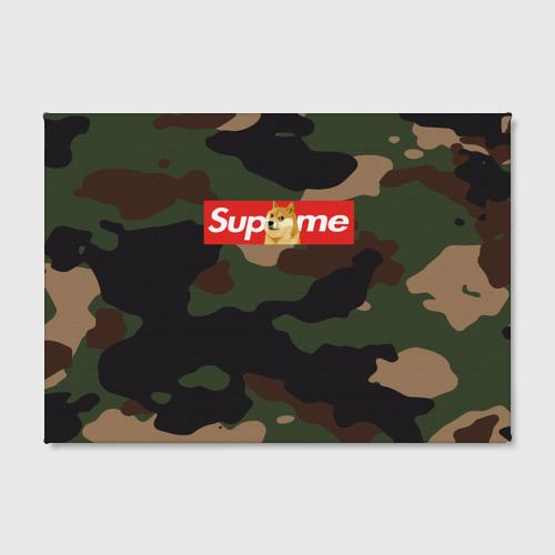 Холст прямоугольный Supreme Doge camouflage Фото 01