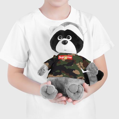 Енотик в футболке 3D Supreme Doge camouflage Фото 01