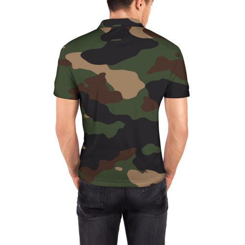 Мужская рубашка поло 3D  Фото 04, Supreme Doge camouflage