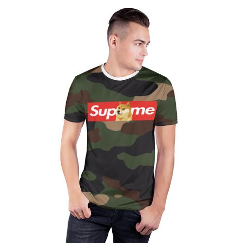 Мужская футболка 3D спортивная Supreme Doge camouflage Фото 01