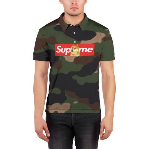 Мужская рубашка поло 3D  Фото 03, Supreme Doge camouflage
