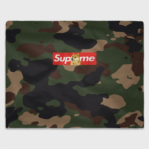 Плед 3D Supreme Doge camouflage Фото 01