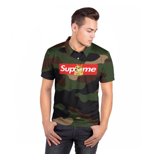 Мужская рубашка поло 3D  Фото 05, Supreme Doge camouflage