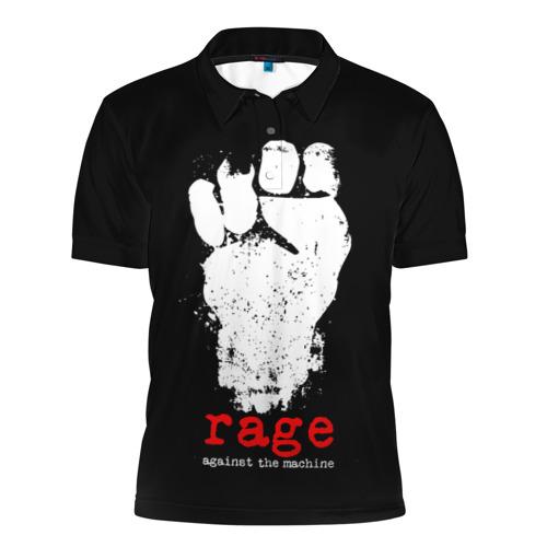 Мужская рубашка поло 3D  Фото 01, Rage Against the Machine