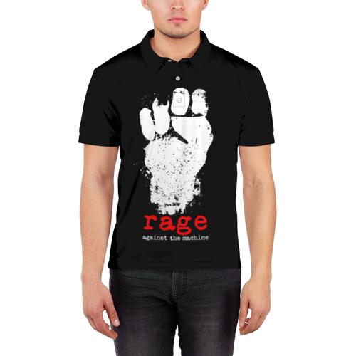 Мужская рубашка поло 3D  Фото 03, Rage Against the Machine