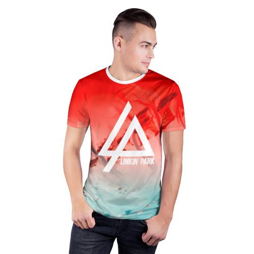 Мужская футболка 3D спортивная  Фото 03, LINKIN PARK