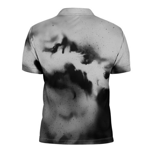 Мужская рубашка поло 3D  Фото 02, LINKIN PARK GRAY ABSTRACT ROCK
