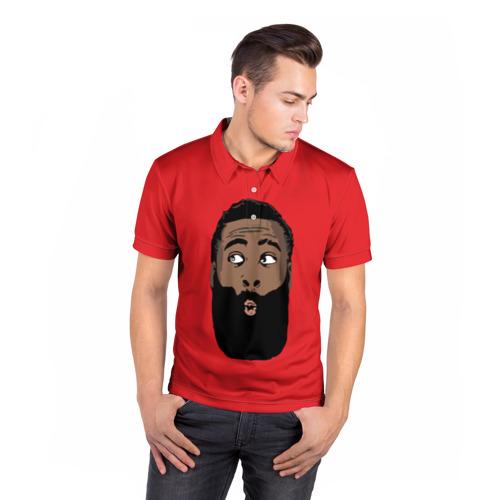 Мужская рубашка поло 3D  Фото 05, James Harden