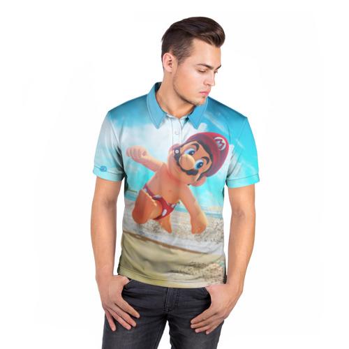 Мужская рубашка поло 3D  Фото 05, Super Mario Odyssey
