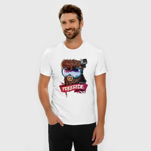 Мужская футболка премиум  Фото 03, Born to freeride