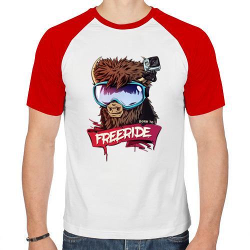 Мужская футболка реглан  Фото 01, Born to freeride