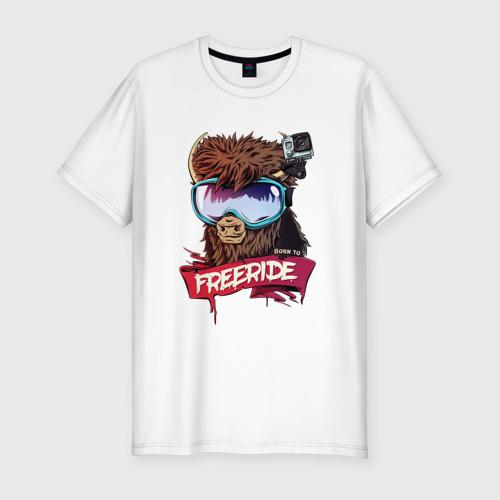 Мужская футболка премиум  Фото 01, Born to freeride