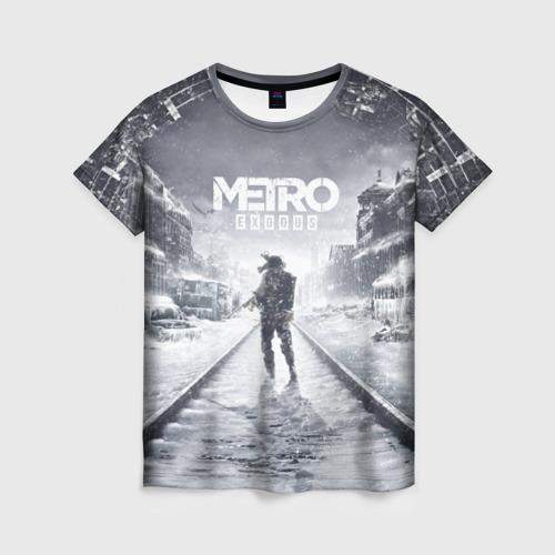 Женская футболка 3D METRO: Exodus