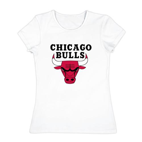 Женская футболка хлопок Чикаго Буллз