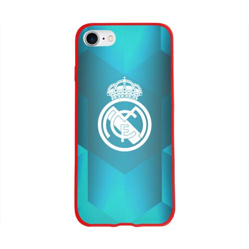 Чехол для Apple iPhone 8 силиконовый глянцевый Real Madrid Geometry Sport