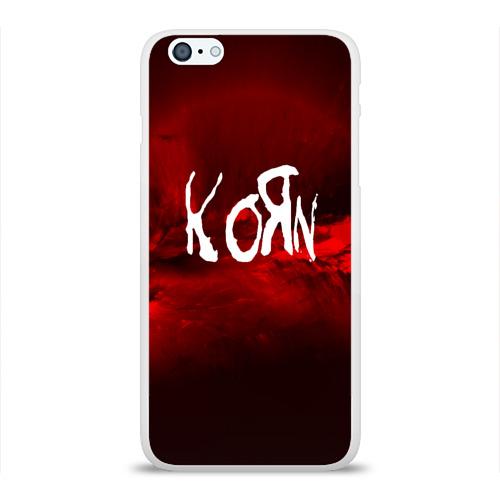 Чехол для Apple iPhone 6Plus/6SPlus силиконовый глянцевый  Фото 01, KORN(MUSIC ABSTRACT SYLE)