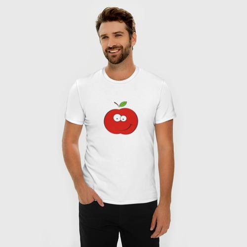 Мужская футболка премиум  Фото 03, Smile apple