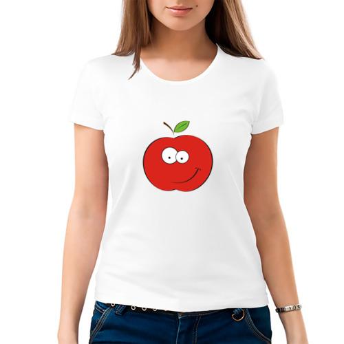 Женская футболка хлопок  Фото 03, Smile apple