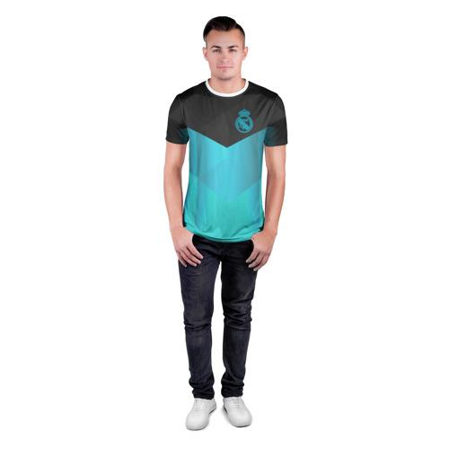 Мужская футболка 3D спортивная  Фото 04, Real Madrid Geometry Sport