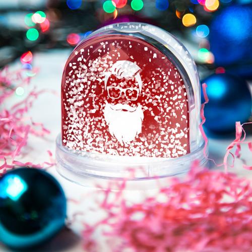 Водяной шар со снегом  Фото 04, Санта Хипстер
