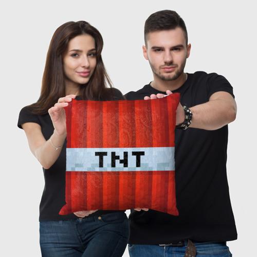 Подушка 3D Minecraft TNT Фото 01