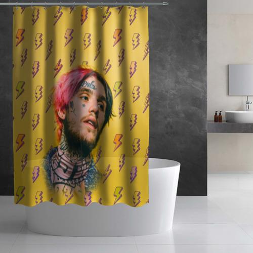 Штора 3D для ванной Thunder Peep Фото 01
